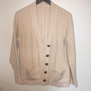 Sweaters - VINTAGE MINIMALIST GRANDPA BUTTON UP SWEATER